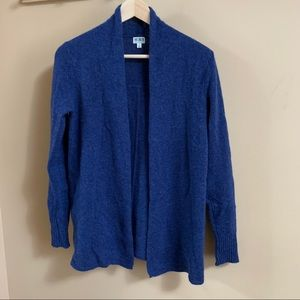 14th & Union Blue Open Cashmere Cardigan Sweater